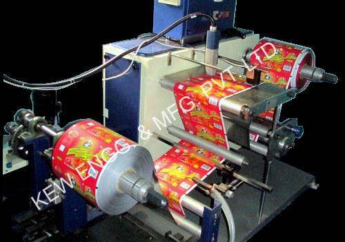 Industrial Inkjet Printer with Winding Rewinding Machine