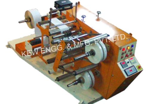 Doctoring Rewinding Machine With Slitting System