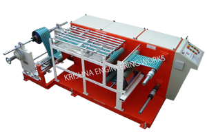 Winding Rewinding Slitting Machine with Two Stage Slitting
